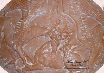 Bas-relief, Scythia, terracotta by © MariAnna MO Warr