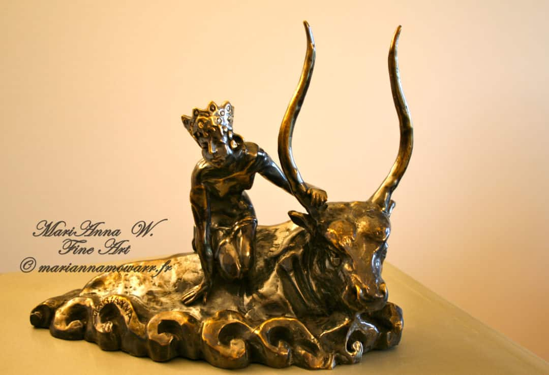 Abduction of Europa, bronze, brown patina by © MariAnna MO Warr