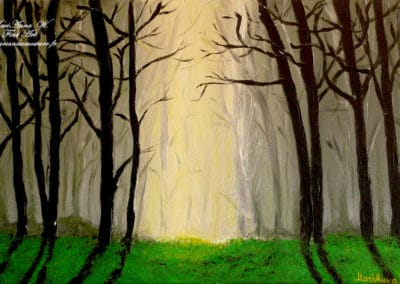 Black Forest, acrylic on canvas by © MariAnna MO Warr